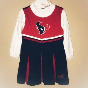 Houston Texans Girls Cheerleader Jumper Set